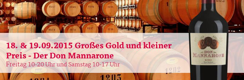 VINELLO.tasting am 18. und 19.09.2015: Der Don Mannarone von Mánnara in unserem VINELLO.winestore.