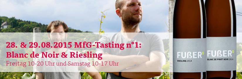 VINELLO.tasting am 28. und 29.08.2015: Probieren Sie Weine der Newcomer Fußer aus der Pfalz in unserem VINELLO.winestore.