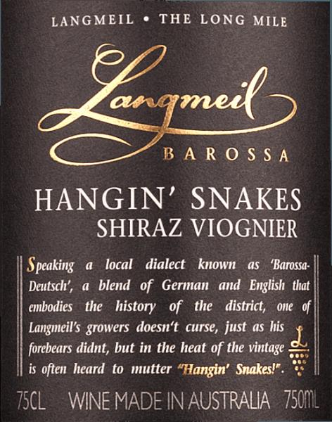 Hangin' Snakes Shiraz Viognier Barossa Valley 2017 - Langmeil von Langmeil
