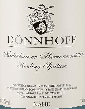 Niederhäuser Hermannshöhle Riesling Spätlese 2018 - Dönnhoff von Weingut Dönnhoff