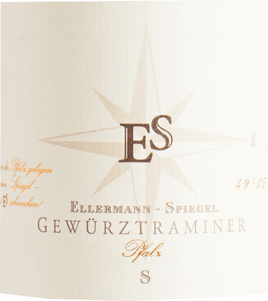 Der Gewürztraminer von Ellermann - Spiegel leuchtet tiefgelb mit hellgrünen Reflexen. In der Nase findet sich ganz sortentypisch ein betörender Duft nach Litschi, Rosen, Holunder und Limettenschale. Am Gaumen ist der Weißwein von Ellermann - Spiegel saftig, weich. Die Harmonie in diesem Wein kommt mit der richtigen Menge an Restsüsse und Schmelz. Ein Wein der wirklich Spaß macht. Speiseempfehlung zum Traminer aus der Pfalz vom Weingut Ellermann und Spiegel Genießen Sie diesen Gewürztraminer zu gereiftem Weichkäse aber auch zu Meeresfrüchten und Krustentieren sowie zu asiatischen Fleischgerichten.