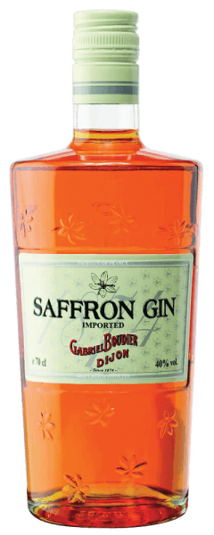 Der Saffron Gin erhält seine besondere Farbe durch edle Safranfäden. Dieser französische Gin begeistert mit den köstlichen Aromen von Wacholder und frischen Zitrusfrüchten. Am Gaumen entfalten sich die Noten von Karamell, Wacholder und Zitrus und Safran. Dieser Gin eignet sich perfekt für erstklassige Gin Tonics. Herstellung des Gabriel Boudier Saffron Gin Zur Herstellung für den Saffron werden insgesamt 8 Botanicals verwendet - Safran, Wacholder, Iris, Orangen- und Zitronenschale, Angelikawurzel, Koriander und Fenchel.