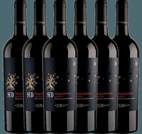 6er Vorteils-Weinpaket - SUD Negroamaro 2019 - Cantine San Marzano