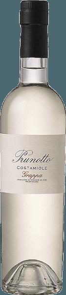 Die Grappa di Costamìole von Prunotto leuchtet im Glas kristallklar, an der Nase präsentieren sich intensive und elegante Aromen, die den Charakter der Barbera-Traube widerspeigeln, am Gaumen ist die Grappa trocken im Geschmack, warm und schmelzig im Abgang. Herstellung der Grappa di Costamìole von Prunotto Diese Grappa von Prunotto ist ein reinsortiger Brand aus den Trestern der Barberatrauben, die für den Wein Costamìole verwendet worden sind, sorgfältig ausgewählt und destilliert.