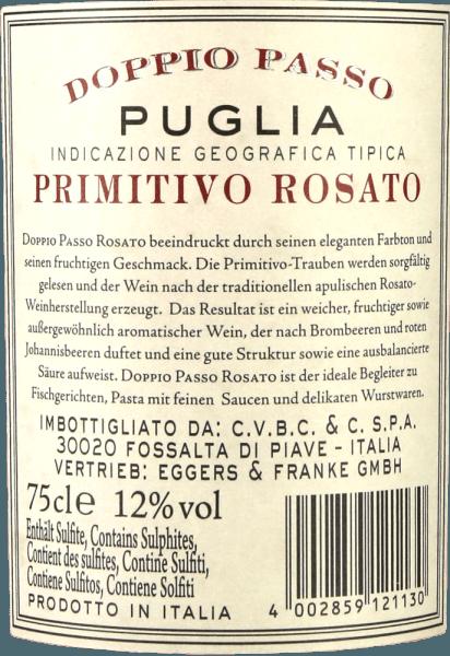 Doppio Passo Rosato Puglia IGT 2019 - CVCB von Casa Vinicola Carlo Botter