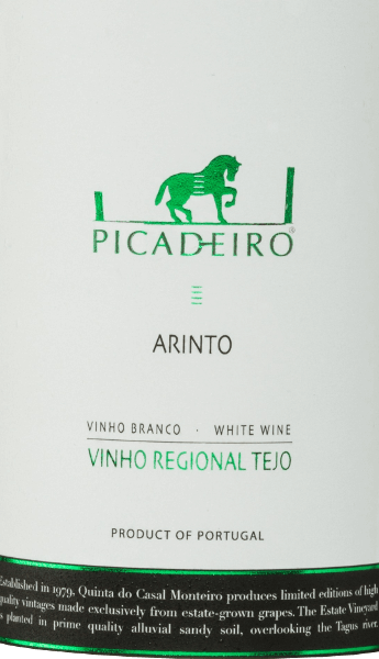 The Picadeiro Arinto from Quinta do Casal Monteiro is a Portuguese white wine from the Tejo region. In the glass this wine shines in a light green colour with glittering highlights. This autochthonous grape variety gives the wine a wonderful bouquet of tropical fruits, fresh lemon and lime. On the palate this white wine is wonderfully soft and present. The lively acidity harmonises perfectly with the tropical-citric fruit aromas and the good body. Food recommendation for Casal Monteiro Picadeiro Arinto This dry white wine from Portugal is a stimulating aperitif and can also be combined wonderfully with dishes with white meat and seafood. Awards for the Picadeiro Arinto by Quinta do Casal Monteiro Mundus Vini: Silver for 2016