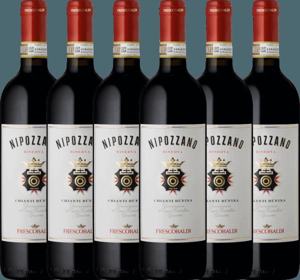 6er Vorteils-Weinpaket - Nipozzano Riserva Chianti Rufina DOCG 2018 - Castello di Nipozzano