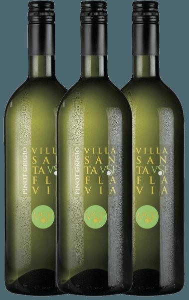 Der Pinot Grigio vom Weingut Villa Santa Flavia bietet frischen, milden Weingenuss. Die Nase und der Gaumen erfreuen sich an fruchtig-frischen Aromen nach knackigen Äpfeln mit dezenter Kräuternote. Erwerben Sie den italienischen Weißwein im praktischen 3er Vorteilspaket. Mehr zu diesem trockenen Weißwein aus Italien erfahren Sie im Einzelartikel des Pinot Grigio von Villa Santa Flavia.