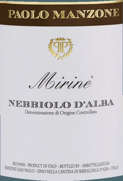 Mirinè Nebbiolo d'Alba DOC 2018 - Paolo Manzone von Paolo Manzone