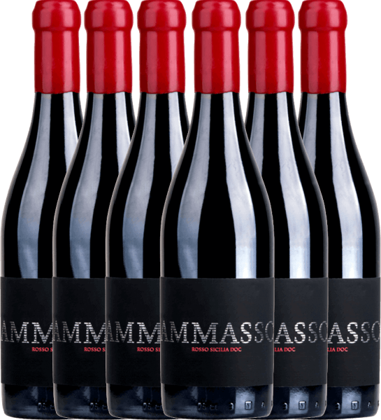 6er Vorteils-Weinpaket - Ammasso Rosso Sicilia IGT 2018 - Barone Montalto