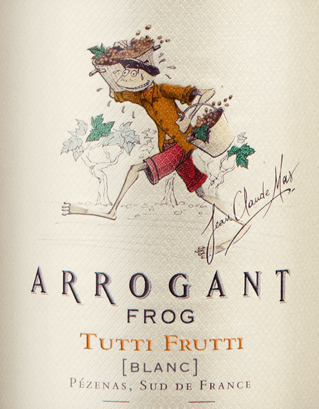 The Tutti Frutti Blanc from Arrogant Frog is a fruity fresh, French white wine cuvée made from the grape varieties Colombard (30%), Chardonnay (25%), Grenache Blanc (20%), Vermentino (10%), Sauvignon Blanc (8%), Viognier (4%) and Muscat Sec (3%). The bright golden yellow colour in the glass is interspersed with greenish highlights. A very elegant bouquet dominated by passion fruit, white peach, fresh citrus fruit and grassy notes. This French white wine is wonderfully fresh and lively as well as rich on the middle palate and convinces with a good fruit length. The name says it all with this white wine! The cellar master had a free hand with the vinification and is only subject to the requirement to create a real fruit bomb - that is absolutely successful! Food recommendation for the Arrogant Frog Tutti Frutti Blanc We recommend this dry white wine from France with light dishes, sushi and sashimi, seafood and fish dishes, white meat, blue cheese and fruit desserts.