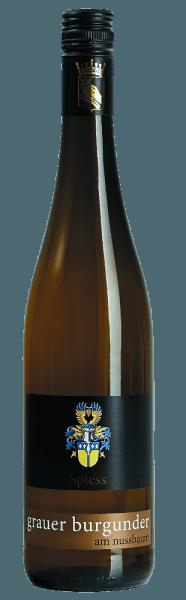 Der Grauburgunder am Nussbaum vom Weingut Spiess erstrahlt in einem zarten Gelb mit goldenen Reflexen. Das Bouquet verströmt sortentypische Aromen mit feinen Anklängen an Mandel. Am Gaumen zeigt sich der Weißwein aus Rheinhessen mit Noten von saftigen Birnen unterlegt von Nuancen an Ananas sowie Zitrusfrüchte. Der Grauburgunder besitzt eine samtige Fülle und ist charakterstark. Serviervorschlag/Foodpairing Der Weißwein von Spiess passt hervorragend zu hellem Fleisch mit Gemüse oder zu Schinken-umwickelten Spargel in Sauce Hollandaise.