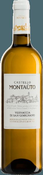 Der Vernaccia di San Gimignano DOCG von Castello Montaùto bei San Gimignano, ist ein typischer Vernaccia aus dem Kerngebiet des Vernaccia in der Toskana. Im Glas präsentiert sich der Vernaccia in hellem Strohgelb mit grünlichen Reflexen, das Bouquet ist intensiv und sortenypisch blumig, mit Nuancen von Mandeln. Am Gaumen zeigt er Ausgewogehnheit und Frische, sowie seidig-mineralische Spritzigkeit, mit einem lang anhaltendem Nachhall. Vinifikation des Vernaccia di San Gimignano von Castello Montaùto Das Weingut Castello di Montaùto gehört der toskanischen Familie Cecchi, im gleichnamigen Ort, unweit von der mittelalterlichen italienischen Stadt San Gimignano. Dieser klassische Weißwein wird ausschliesslich rund um San Gimignano in der Toskana produziert. Für diesen Vernaccia DOCG werden mindestens 90% Vernaccia -Trauben und maximal 10% andere zugelassene weiße Rebsorten zusammen verarbeitet. Für die Vinifikation werden die Trauben vor der Gärung kalt mazeriert, die Gärung findet bei kontrollierter Temperatur von 15°C statt und dauert insgesamt zwei Wochen. Der Wein wird dann noch mindestens 3 Monate in den Flaschen gelagert, bevor er in den Verkauf gegeben wird. Speiseempfehlung für den Vernaccia di San Gimignano von Castello Montaùto Genießen Sie diesen trockenen Weißwein zu Risotto, Fisch oder Käse.