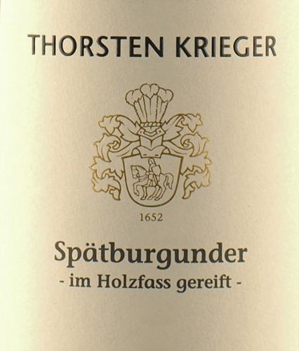 Spätburgunder trocken 2018 - Thorsten Krieger von Weingut Thorsten Krieger