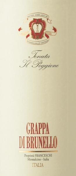 Grappa di Brunello - Tenuta il Poggione von Tenuta Il Poggione