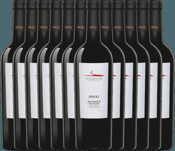 12er Vorteils-Weinpaket - Pipoli Aglianico del Vulture DOC 2018 - Vigneti del Vulture von Vigneti Del Vulture