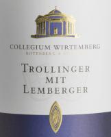 Vorschau: Trollinger mit Lemberger 1,0 l 2018 - Collegium Wirtemberg