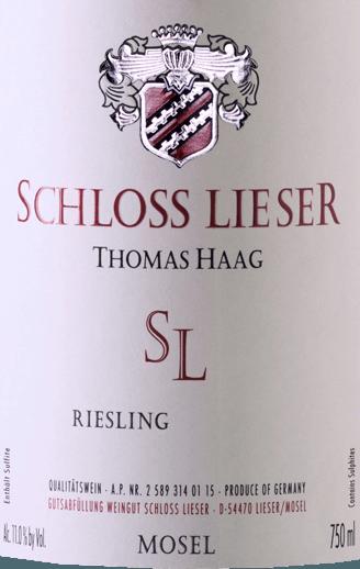 SL Riesling feinherb 2018 - Schloss Lieser von Weingut Schloss Lieser