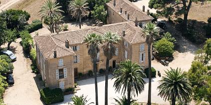 Das Château de Pampelonne aus der Luft