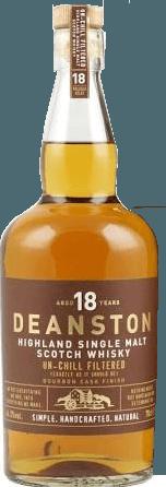 Der Deanston 18 Years Highland Single Malt Scotch Whisky von Deanston Distillery präsentiert sich bernsteinfarben bis dunkelgold glänzend im Glas. An der Nase entfalten sich Aromen von echter Vanille, Karamell, süßem Gebäck und einem Hauch von Ingwer. Am Gaumen zeigt sich die Wärme und Komplexität mt Noten von Gerstenzucker, Malz, süßem Toffee, Heidhonig bis hin zu Anklängen vom Schokolade. Der intensive und würzige Abgang klingt aus mit ansprechenden Toffee-, Gewürznelken- und Vanillenoten. Herstellung des Deanston 18 Jahre Highland Single Malt Scotch Whisky von Deanston Distillery Der Deanston 18 Jahre ist ein Ausnahmeprodukt. Er wurde langsam über 18 Jahre gereift inklusive einem Ausbau in den besten First Fill Bourbon-Fässer. Die erste Abfüllung erfolgt im Mai 2015, die Resonanz war so groß, dass man sich für noch eine zweite Abfüllung im November 2015 entschied. Wie oft bei diesen Sondereditionen, ist nur eine begrenzte Anzahl von Flaschen verfügbar. Servierempfehlung für den Deanston 18 Jahre von Deanston Distillery Geniessen Sie die ganze aromtische Komplexität und sanfte Textur dieses Deanston 18 Jahre Highland Single Malts idealerweise pur und hardwarm. Prämierungen The Scotch Whisky Masters (The Spirits Business) Highlands & Islands 13-18y 2015 - Gold