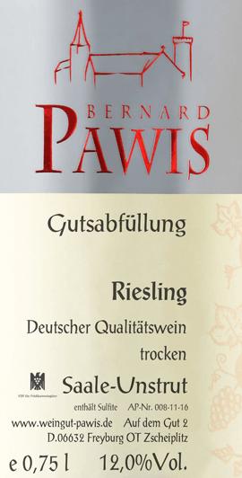 Riesling trocken 2019 - Pawis von Weingut Bernard Pawis