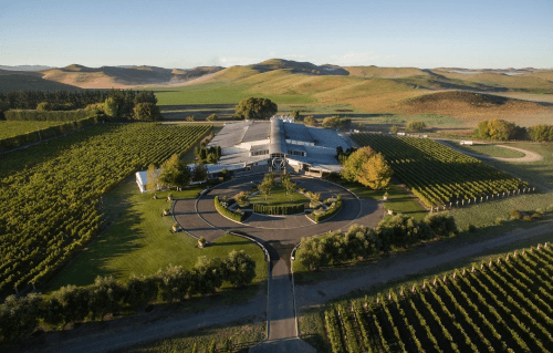 The New Zealand winery Sileni Estates in Hawkes Bay