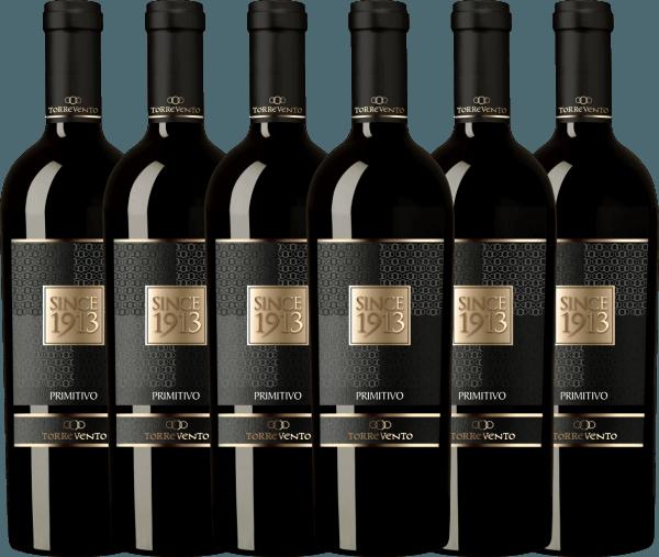 6er Vorteils-Weinpaket - Since 1913 Primitivo Puglia IGT 2016 - Torrevento von Torrevento
