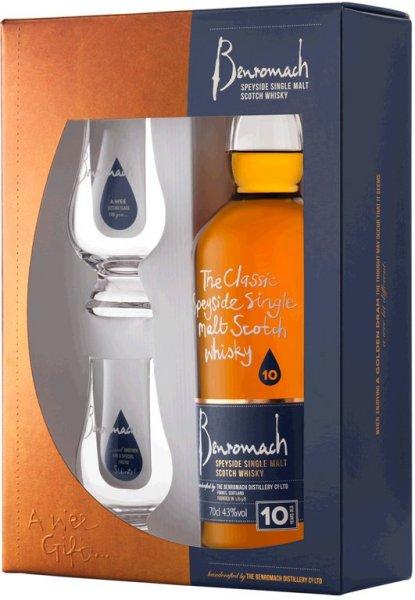 Der Benromach 10 Years Old von Benromach Distillery ist ein mehrfach preisgekrönter Single Malt aus Speyside's kleinster Brennerei. Er wird zuerst in einem Mix aus 80% Bourbon- und 20% Sherry-Fässern gelagert, bevor er dann den letzten Schliff in europäischen Oloroso-Sherry-Fässern bekommt. Das Ergebnis ist ein gut balancierter Whisky mit intensiver goldener Farbe und langem Abgang. Daten desBenromach 10 Years Old - Benromach Distillery: Hersteller: Benromach DistilleryHerkunft: Schottland, SpeysideInhalt: 0,7 lAlkoholgehalt: 43 Vol.%enthält Farbstoff Auszeichnungen desBenromach 10 Years Old - Benromach Distillery: Great Taste Awards (Guild of Fine Food): GOLD 2011ISW 2012: Gold