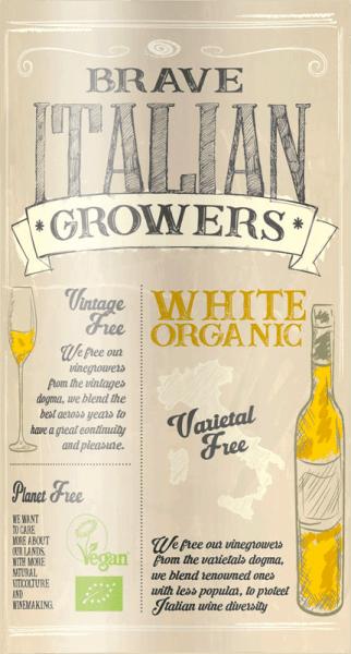 Der im Fass ausgebaute Brave Italian Growers Bianco aus der Weinbau-Region Apulien präsentiert sich im Glas in leuchtendem Goldgelb. In der Mitte geht der Ton über in eine schöne Farbe. Der Nase zeigt dieser Cielo e Terra Weißwein allerlei Physalis, Gallia-Melone, Sternfrüchte, Papayas und Schwarzkirschen. Dieser Weiße von Cielo e Terra ist die richtige Wahl für alle Weinenthusiasten, die es trocken mögen. Dabei zeigt er sich aber nie karg oder spröde, sondern rund und geschmeidig. Am Gaumen präsentiert sich die Textur dieses ausgeglichenen Weißweins wunderbar leicht. Durch seine vitale Fruchtsäure zeigt sich der Brave Italian Growers Bianco am Gaumen beeindruckend frisch und lebendig. Das Finale dieses Weißweins aus der Weinbauregion Apulien besticht schließlich mit gutem Nachhall. Vinifikation des Cielo e Terra Brave Italian Growers Bianco Dieser balancierte Weißwein aus Italien wird aus den Rebsorten Chardonnay und Fiano vinifiziert. Nach der Handlese gelangen die Weintrauben zügig ins Presshaus. Hier werden Sie selektiert und behutsam aufgebrochen. Anschließend erfolgt die Gärung im kleinen Holz bei kontrollierten Temperaturen. Der Gärung schließt sich eine Reifung für einige Monate in Fässern aus Eichenholz an. Speiseempfehlung zum Cielo e Terra Brave Italian Growers Bianco Dieser italienische Weißwein sollte am besten gut gekühlt bei 8 - 10°C genossen werden. Er eignet sich perfekt als begleitenden Wein zu Kürbis-Auflauf, Spaghetti mit Kapern-Tomaten-Sauce oder würzige Esskastaniensuppe.