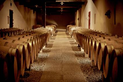 Im Weinkeller von Château Coutet
