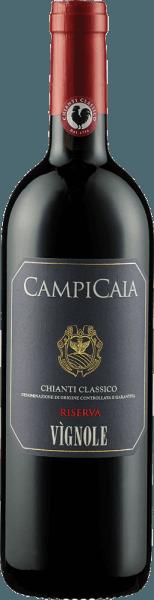 Der Chianti Classico Riserva DOCG von Tenuta di Vignole erscheint im Glas in einem dunklen Rubinrot mit den Aromen dunkler Beeren, Pflaumen und Schwarzkirschen. Diese Fruchtaromen werden von den würzigen Nuancen von Mocca und Zimt begleitet. Dieser Rotwein ist am Gaumen füllig und der elegante, leicht rauchige Nachhall macht Lust auf mehr. Vinifikation für den Chianti Classico Riserva DOCG von Tenuta di Vignole Diese Cuvée wird aus den handgelesenen und sorgfältig selektierten Trauben der Rebsorten Sangiovese und Cabernet Sauvignon hergestellt. Die Trauben werden auf der Haut mazeriert und seperat in Betonwannen fermentiert. Die malolaktische Fermentation und der 20-monatige Ausbau fanden in Barriquefässern statt. Nach dem Zusammenführen der Weine reiften der Chianti Classico Riserva für weitere 6 Monate in der Flasche. Speiseempfehlung für den Chianti Classico Riserva DOCG von Tenuta di Vignole Genießen Sie diesen trockenen Rotwein zu kräftigen Gerichten von Schwein und Rind, Braten in dunklen Soßen, gegrilltem Fleisch oder zu Lamm und Wild.