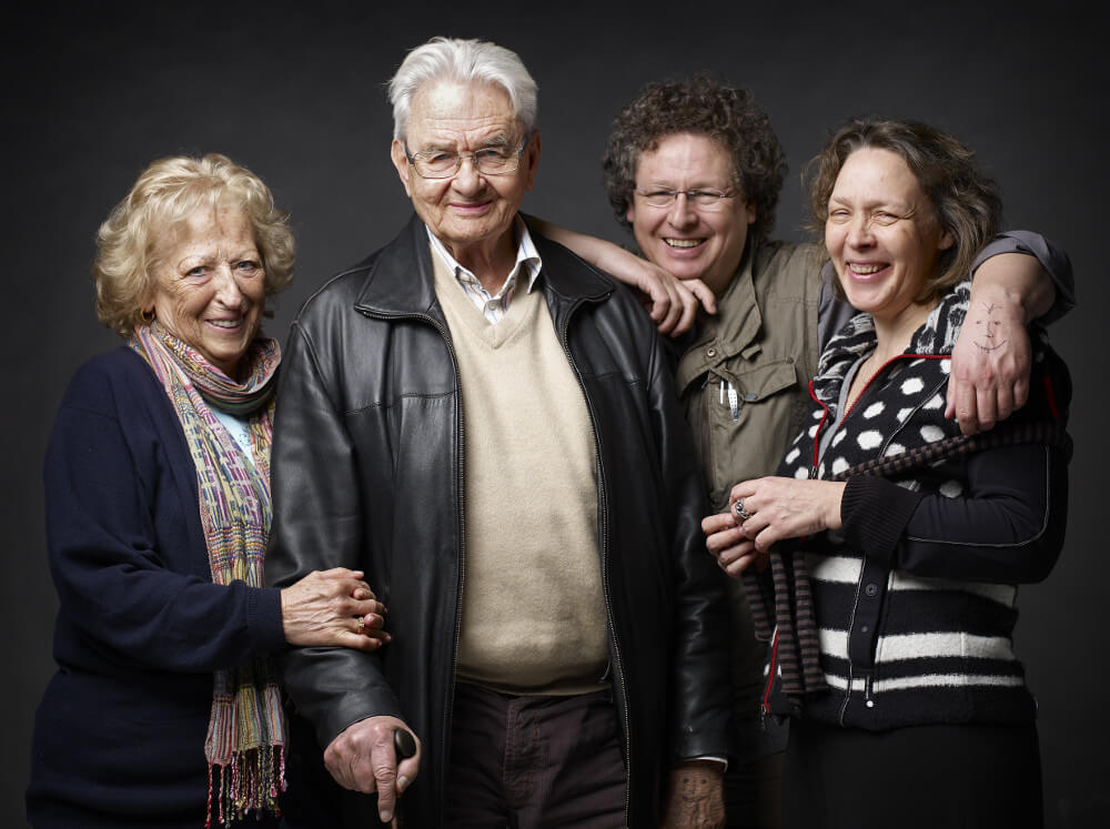 Rolf van der Niepoort with wife and children Dirk and Verena Niepoort