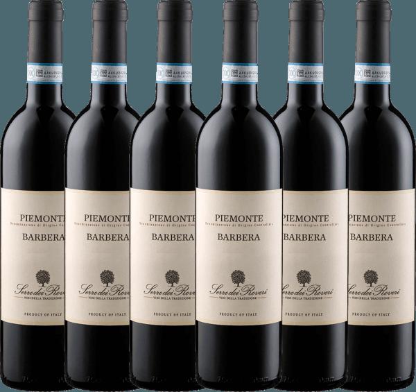 6er Vorteils-Weinpaket - Serre dei Roveri Piemonte Barbera DOC 2019 - Sartirano