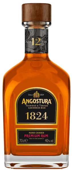 This amber rum is a composition of the best rums that ripen for twelve years. The Angostura 1824 12 Year Old Rum by Angostura Rum shines with seductive aromas of herbs, spices, chocolate, fruits and honey, which are reflected in the sustainable finish. He is silky soft and due to his multiple award a blend for discerning connoisseurs.
