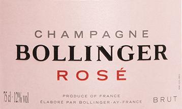 Champagner Rosé Brut in GP - Bollinger von Champagne Bollinger