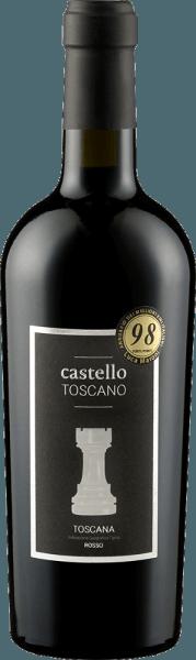 Der rubinrote Toscana Rosso von Castello Toscano ist das Gemeinschaftsprojekt von Rolf Freund und Weinmacher Matteo Bernabei. Ein herrlich klassischer Toskaner mit viel schwarzer Johannisbeere, vollreifen Kirschen und gut eingebundenen Holznuancen. Anflüge von Gewürzen wie Vanille und Süßholz ergänzen. Der kräftige, harmonische und fruchtbetonte Geschmack des Toscana Rosso von Castello Toscano begeistert von Anfang bis Ende. Weiche Tannine und eine gute eingebundene Säure machen Lust auf mehr. Vinifikation des Toscana Rosso von Castello Toscano Dieser Rotwein wird aus Sangiovese und Merlot vinifiziert und reift sowohl im großen Holzfass als auch zum Teil im Barrique. Food pairing für den Castello Toscano Rosso Genießen Sie diesen toskanischen Rotwein zu Pastagerichten oder kurzgebratenem Rindfleisch.