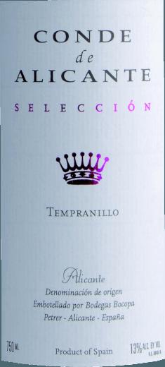 Tempranillo 2019 - Conde de Alicante von Bodegas Bocopa