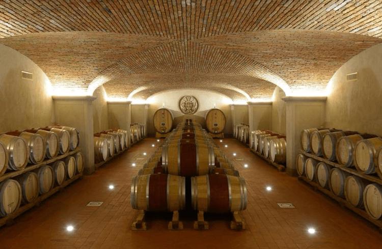 In the wine cellar of Villa Santo Stefano