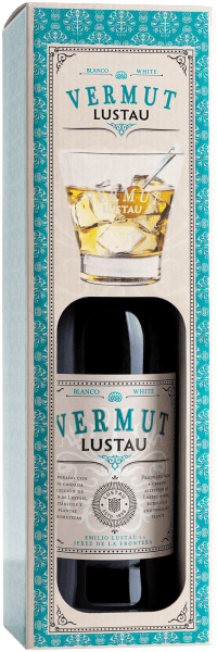 Vermut Blanco in box with glass - Emilio Lustau
