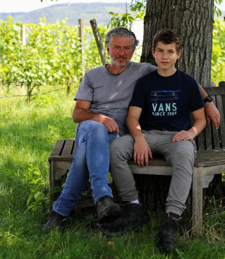 Fred Loimer mit Sohn