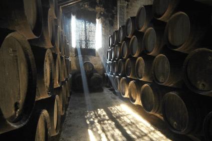 The wine cellar in Jerez