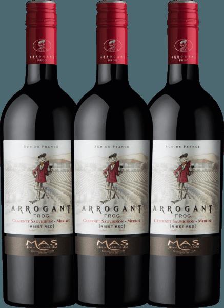 3er Vorteilspaket Ribet Red Cabernet Sauvignon Merlot 2020 - Arrogant Frog