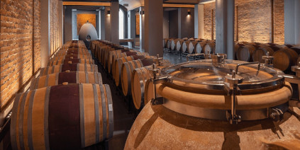 The cellar of the Ernie Els winery