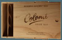 6er Weinkiste mit Schiebedeckel und Branding