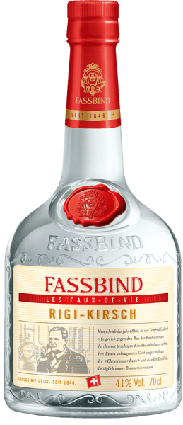 This oldest and most traditionally brand of Fassbind is clear in the color and is burnt by the countercurrent method, stored for a year as distillate and finally blended. The Rigi cherry Les Eaux de Vie of Fassbind smells fruity and mild. A subtle almond flavor can be smelled. The subtle taste of the almond is on the harmonious palate. This fruit spirit is characterized by an elegant and full-bodied body and a long, fruity finish.