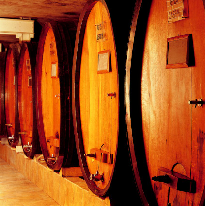 The Domaines Schlumberger wines in the oak cask