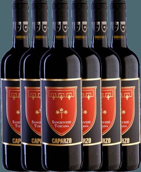 6er Vorteils-Weinpaket - Sangiovese Toscana IGT 2019 - Caparzo