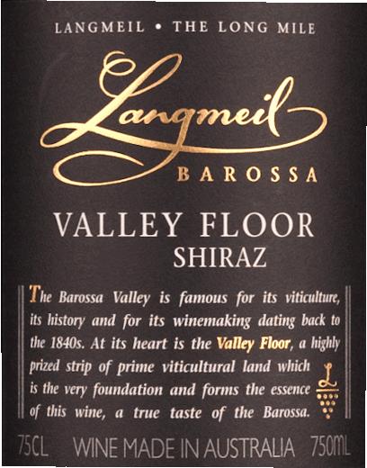 Valley Floor Shiraz Barossa Valley 2017 - Langmeil von Langmeil