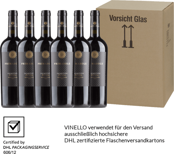 6er Vorteils-Weinpaket - Primasole Primitivo 2018 - Cielo e Terra von Cielo e Terra