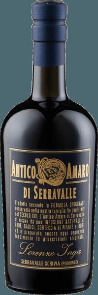 Der Antico Amaro di Serravalle von Lorenzo Inga ist ein anregender und ätherischer Amaro aus dem Piemont. Dieser Kräuterlikör überzeugt am Gaumen durch seinen herzhaften und würzigen Gesamteindruck. Herstellung des Antico Amaro di Serravalle von Lorenzo Inga Der Antico Amaro di Serravalle entsteht durch eine Infusion von mehr als 20 Kräutern, Pflanzen, Wurzeln und Baumrinden in Alkohol, Zucker und Wasser. Dieses Rezept stammt aus dem Jahr 1832 und wurde von einem Kapuzinermönch entwickelt, um ein Kräuterelixier zur Heilung der Cholera in Indien herzustellen. Servierempfehlung für den Antico Amaro di Serravalle von Lorenzo Inga Genießen Sie diesen Amaro pur als Digestif.